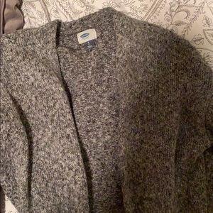 Old Navy grey knit long cardigan